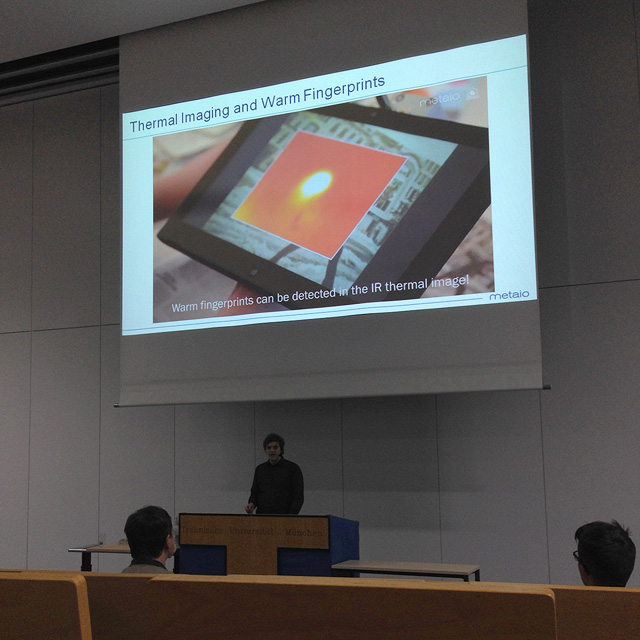 Daniel Kurz @ ISMAR 2014: Thermal Touch: Thermography-Enabled Everywhere Touch Interfaces for Mobile Augmented Reality Applications