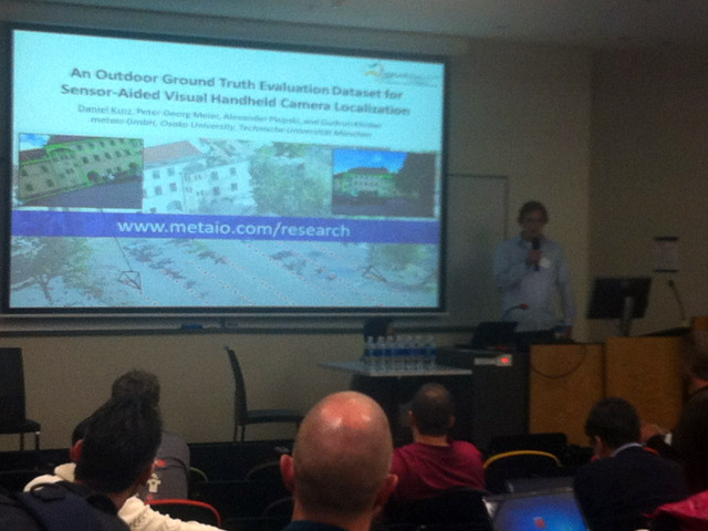 Daniel Kurz @ ISMAR 2013: An Outdoor Ground Truth Evaluation Dataset for Sensor-Aided Visual Handheld Camera Localization