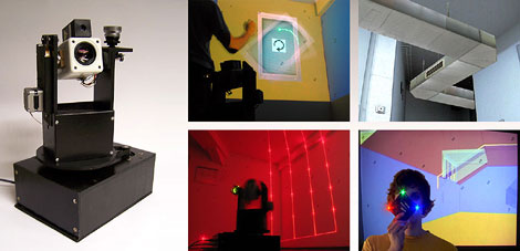 Laser-Pointer Tracking in Projector-Augmented Real Environments